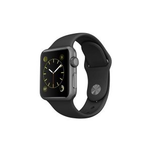 اپل واچ مدل 38mm Space Gray Aluminum Case with Black Sport Band