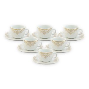 سرویس چینی 12 پارچه چایخوری موناکو سری کواترو چینی زرین