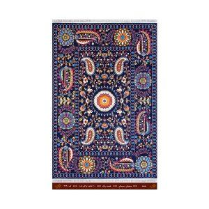فرش تندیس کاشان 6 متری 8 رنگ نقشه سورمه ای
