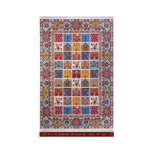 فرش تندیس کاشان 6 متری 8 رنگ ناردین کرم_کرم