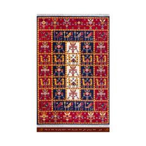 فرش تندیس کاشان 6 متری 8 رنگ نارون سورمه ای _ لاکی