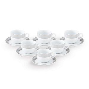 سرویس چینی 12 پارچه چایخوری پالادیوم سری ایتالیا اف چینی زرین