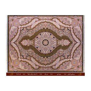 فرش تندیس کاشان12متری 10 رنگ مدل ریزماهی افشان سورمه ای