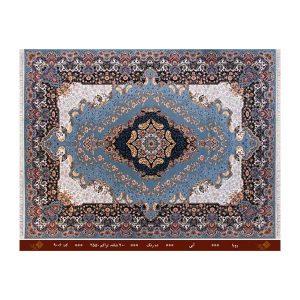 فرش تندیس کاشان 12 متری 10 رنگ مدل رویا رنگ آبی