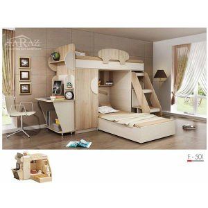 سرویس خواب دو طبقه نوجوان فراز مدل F_501