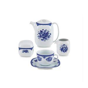 سرویس چای خوری 17 پارچه چینی زرین مدل فلورانس سری کواترو