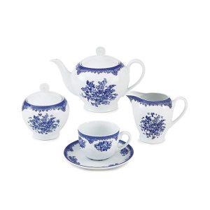 سرویس چای خوری 17 پارچه چینی زرین مدل فلورانس سری ایتالیااف