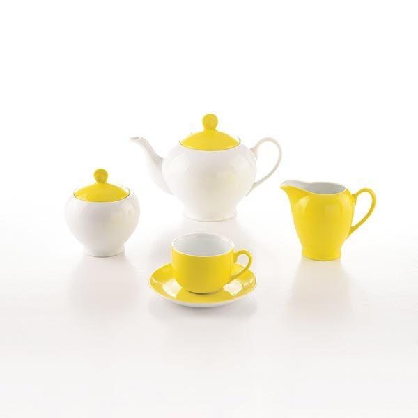 سرویس چای خوری 17 پارچه چینی زرین مدل آیریس آفتاب سری آلگرو