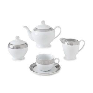 سرویس چای خوری 17 پارچه چینی زرین مدل پالادیوم سری ایتالیااف