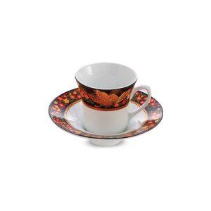 سرویس چینی 12 پارچه چای خوری سیمرغ چینی زرین سری شهرزاد