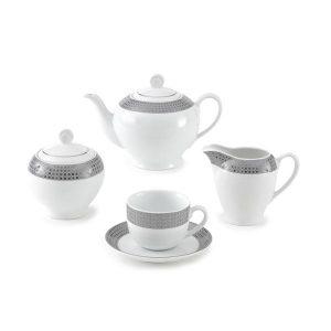 سرویس چای خوری 17 پارچه چینی زرین مدل سورن سری ایتالیااف