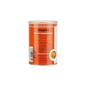 کنسرو لوبیا چیتی در سس گوجه فرنگی هپی فارم 400 گرمی