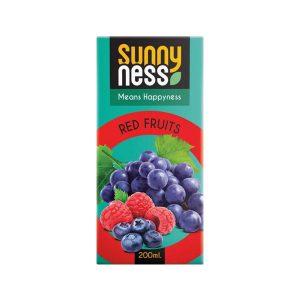 نوشیدنی میوه های قرمز پاکتی سانی نس 200 سی سی