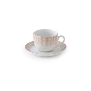 سرویس چای خوری 12 پارچه چینی زرین مدل مریدین رزگلد
