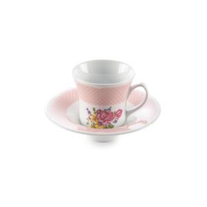سرویس چای خوری 12 پارچه چینی زرین مدل رزالین