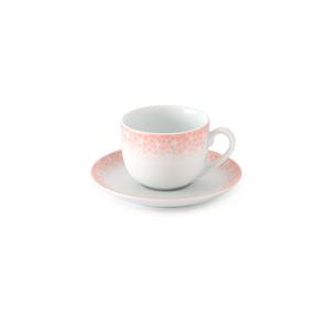 سرویس چای خوری 12 پارچه چینی زرین مدل ساکورا صورتی