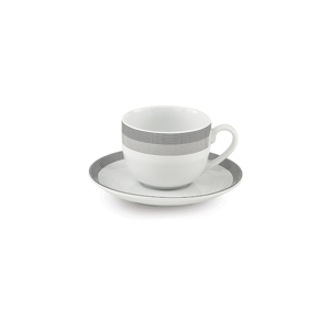 سرویس چای خوری 12 پارچه چینی زرین مدل سیلورلاینر