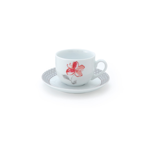 سرویس چای خوری 12 پارچه چینی زرین مدل والنسیا قرمز