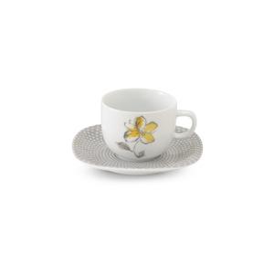 سرویس چای خوری 12 پارچه چینی زرین مدل والنسیا زرد
