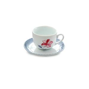 سرویس چای خوری 12 پارچه چینی زرین مدل والنسیا ارغوانی
