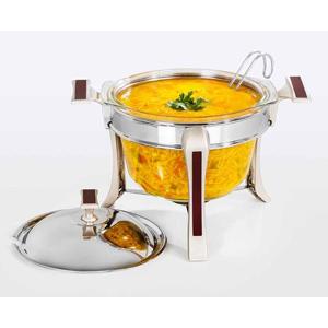 سوپ خوری بزرگ تک استیل سری طرح چوب