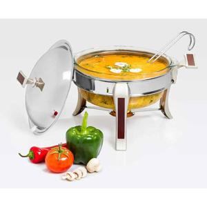سوپ خوری متوسط تک استیل سری طرح چوب
