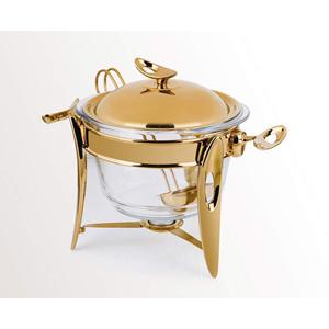 سوپ خوری بزرگ تک استیل سری لوپ طلایی براق