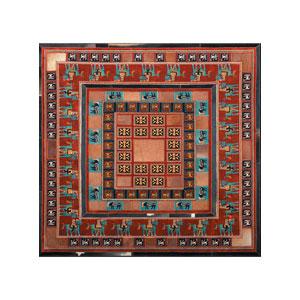 پوست و فرش مربع کرامتیان مدل پازیریک 2 متری