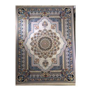 فرش 12 متری 8 رنگ تندیس کاشان مدل طرح نقره ای