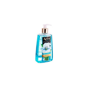 مایع دستشویی شفاف آبی اکتیو 450 گرمی