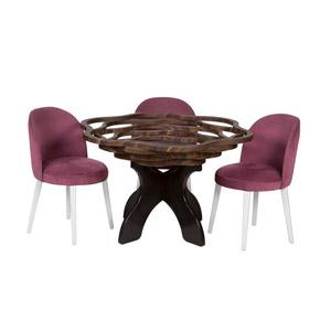 میز ناهار خوری درینو طرح فلاور مدل LUT-10