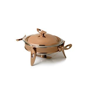 سوپ خوری تک استیل سایز کوچک مدل رزگلد