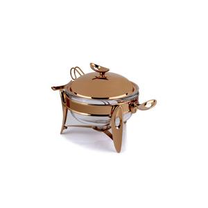 سوفله سوپ خوری بزرگ تک استیل مدل لوپ رزگلد