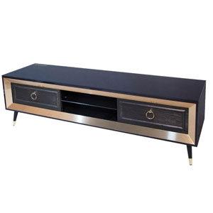 میز تلویزیون ناژینو مشکی طلایی مدل 219210